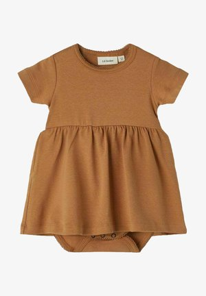 SHORT SLEEVE - Day dress - tobacco brown