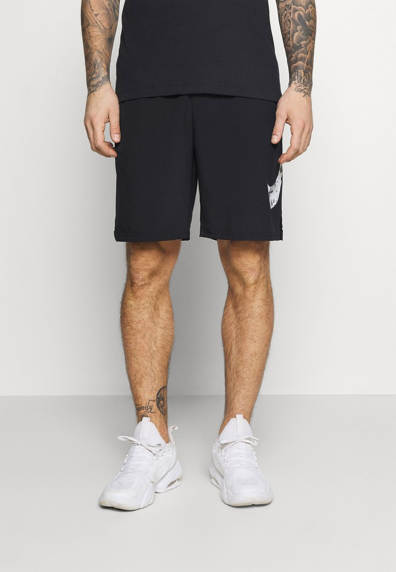 Nike Performance - SHORT CAMO - Korte sportsbukser - black