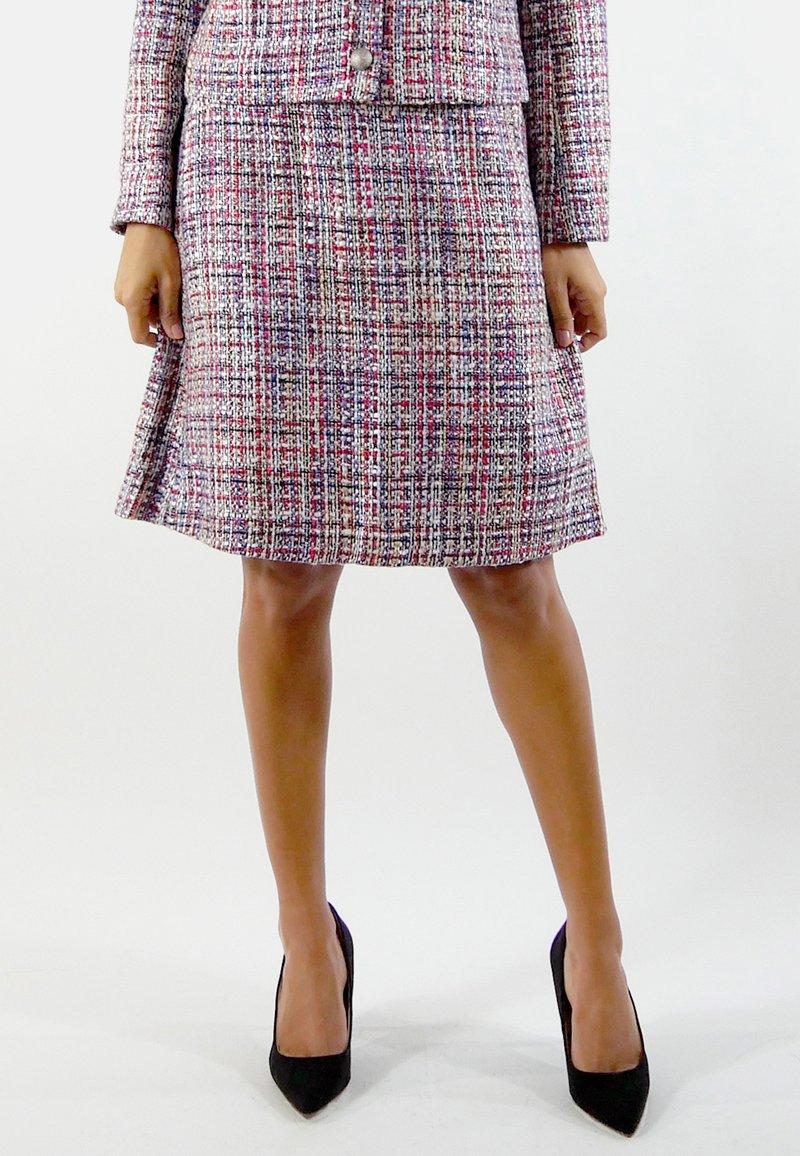 Aline Celi - GABRIELLE - A-line skirt - red/blue/white