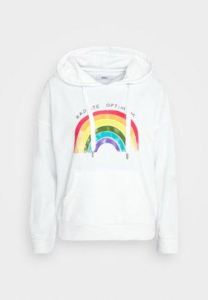 ONLRAINBOW  HOODIE - Sweatshirt - white
