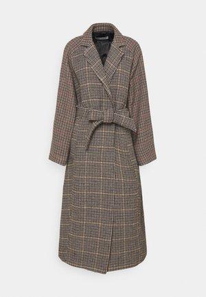 COAT FANTASY CLOTH - Abrigo clásico - brown/white