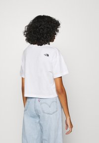The North Face - LETTER TEE - T-shirts med print - white/black/ethereal blue - 2