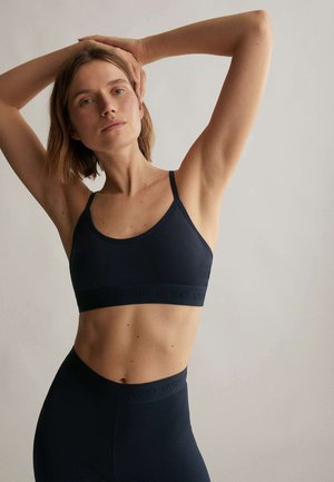 LOGO COMFORT  - Light support sports bra - dark blue