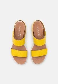 Caprice - Sandály na platformě - yellow - 5