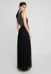 Maya Deluxe - SLEEVELESS WRAP FRONT MAXI DRESS - Společenské šaty - black - 2
