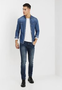 TOM TAILOR DENIM - SLIM AEDAN - Jean slim - mid stone wash denim - 1