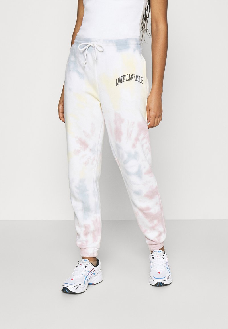 American Eagle - BRANDED PANT WASH - Tracksuit bottoms - multicoloured