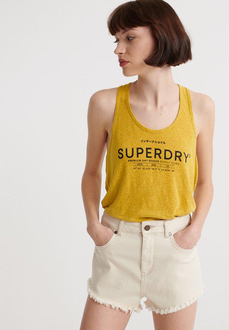Superdry - SUPERDRY DESERT LINEN VEST - Top - oil yellow