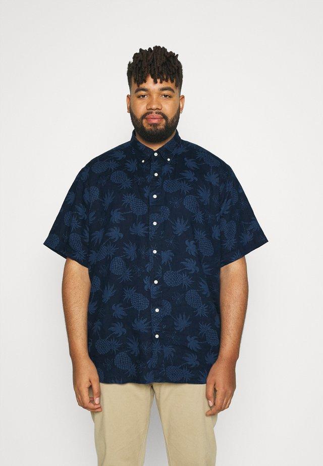 PRINTED - Shirt - dark blue/offwhite