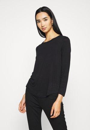 KATHLEEN LONG SLEEVE - Long sleeved top - black