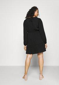 Forever New Curve - COLETTE SKATER WRAP DRESS - Day dress - black - 4