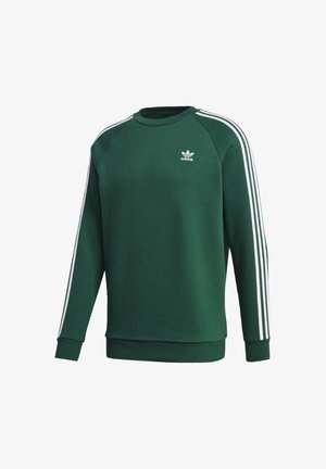 3-STRIPES CREWNECK SWEATSHIRT - Mikina - green