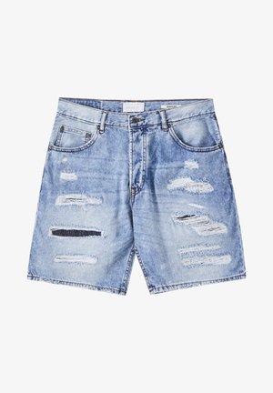 MIT RISSEN - Short en jean - light blue
