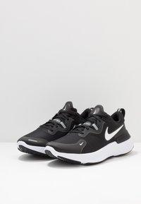 Nike Performance - REACT MILER - Neutrale løbesko - black/white/dark grey/anthracite - 2