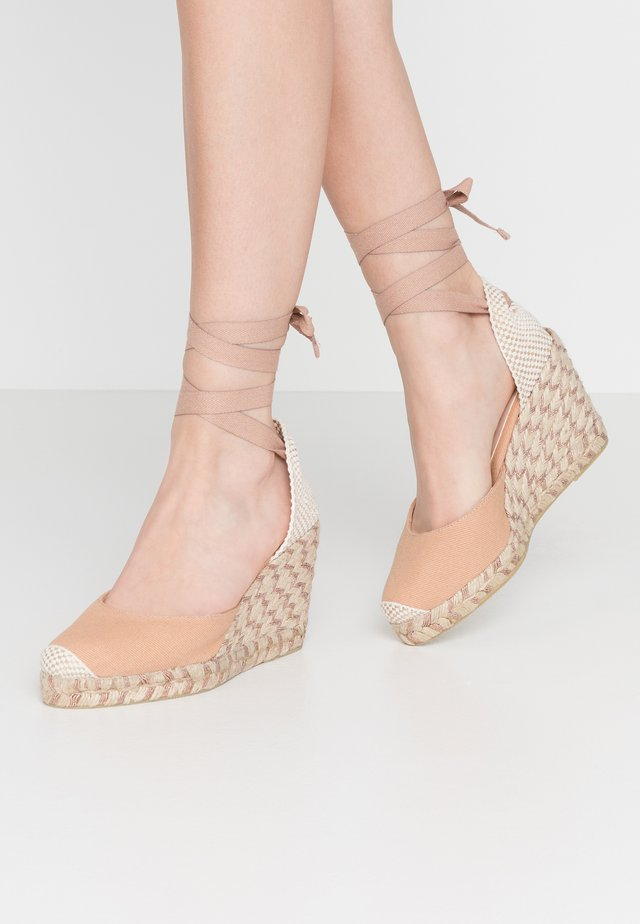 MARMALADE WIDE FIT - Sandalias de tacón - nude/rose gold