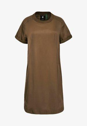 WOVEN TEE - Jersey dress - dark olive