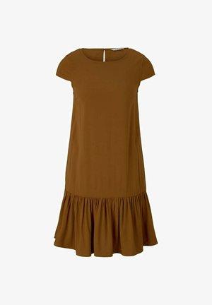 Day dress - caramel brown