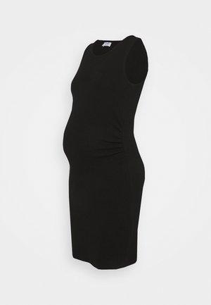 MATERNITY HIGH NECK MIDI DRESS - Jersey dress - black