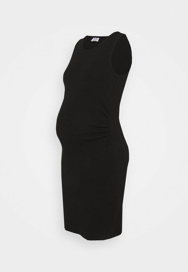MATERNITY HIGH NECK MIDI DRESS - Jerseyjurk - black