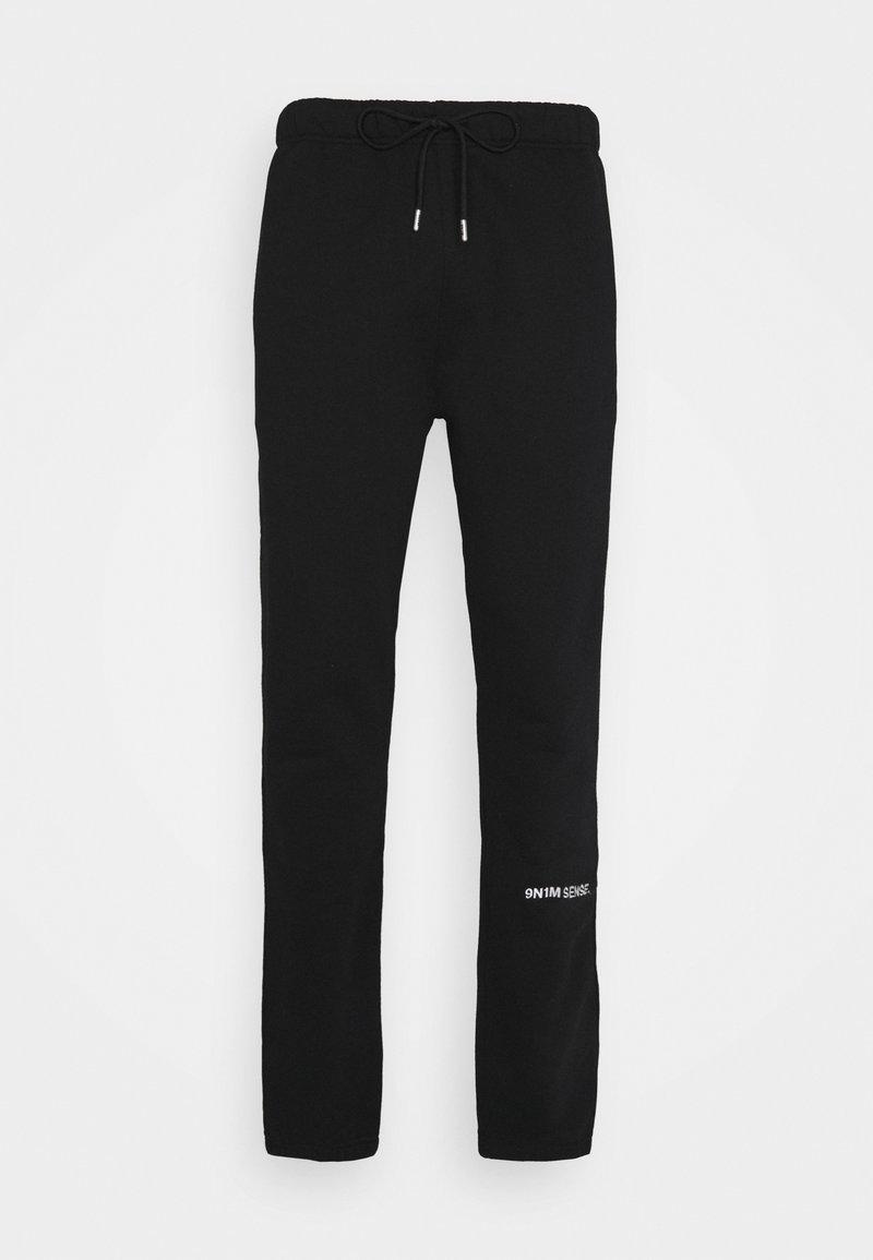 9N1M SENSE - LOGO PANTS UNISEX - Kangashousut - black