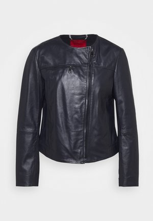 NOTO - Leather jacket - midnight blue
