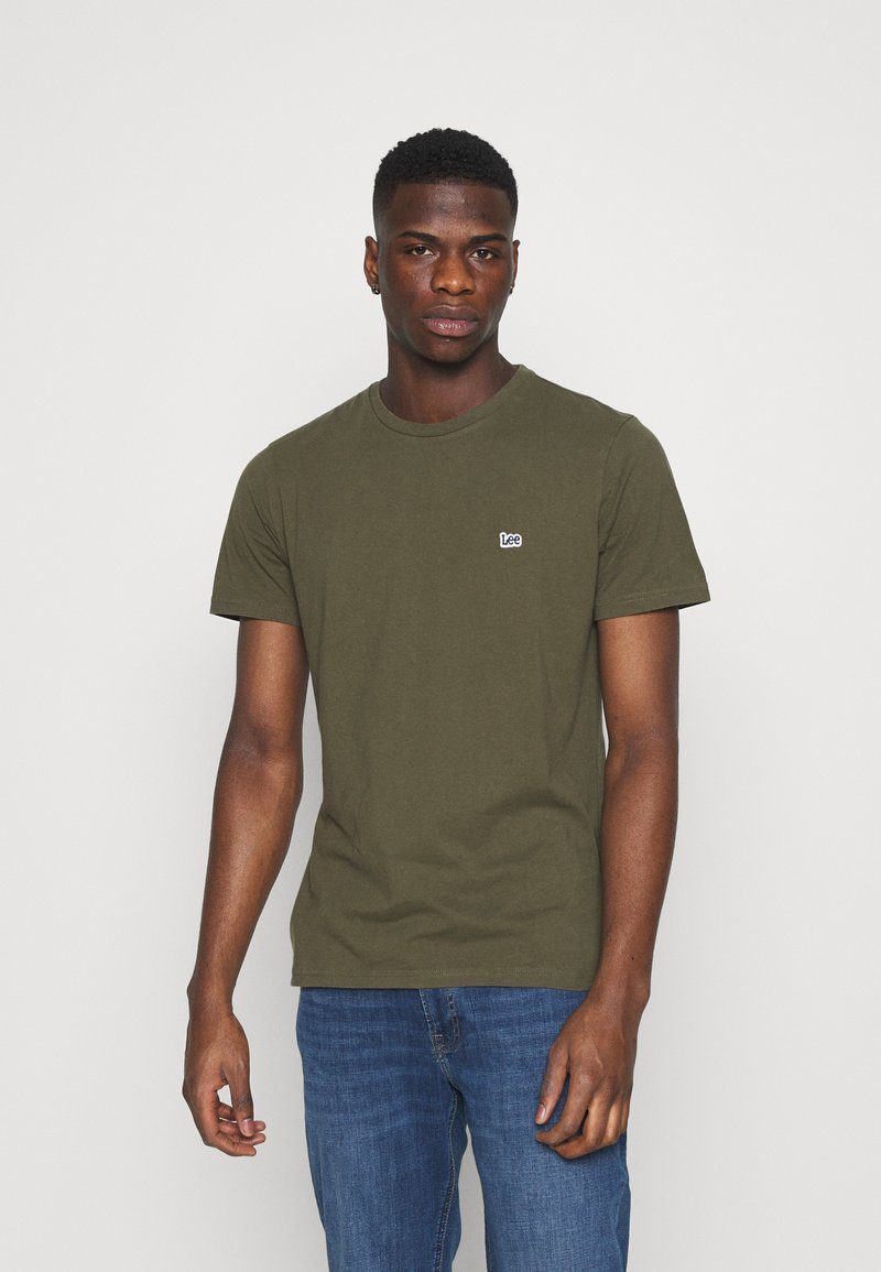 Lee - PATCH LOGO TEE - T-shirt - bas - olive green