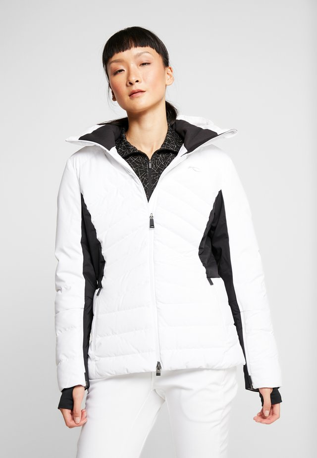 WOMEN DUANA JACKET - Laskettelutakki - white/black