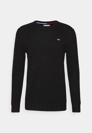 SLEEVE TAPE SWEATER - Sweatshirt - black