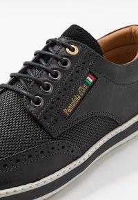 Pantofola d'Oro - MILAZZO UOMO LOW - Sznurowane obuwie sportowe - black - 5
