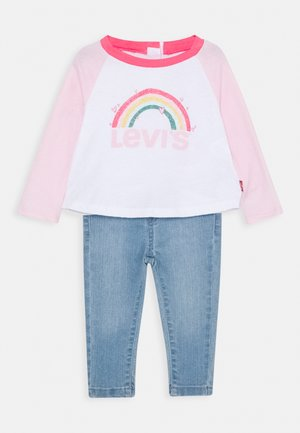 COLORBLOCK RAGLAN SET - Jeans Straight Leg - white
