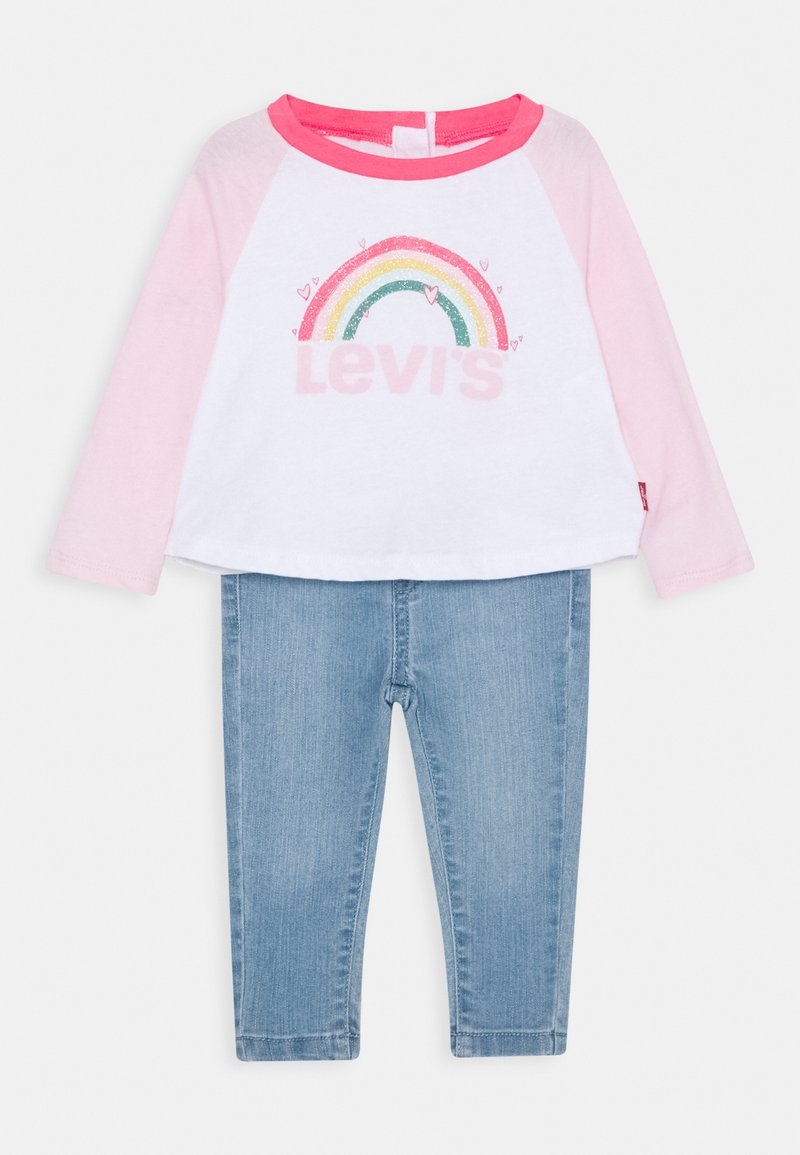 Levi's® - COLORBLOCK RAGLAN SET - Straight leg jeans - white