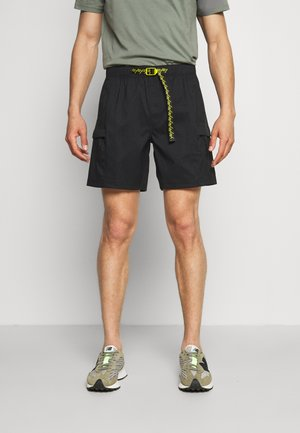 CLASS V BELTED - Friluftsshorts - black/mustard yellow