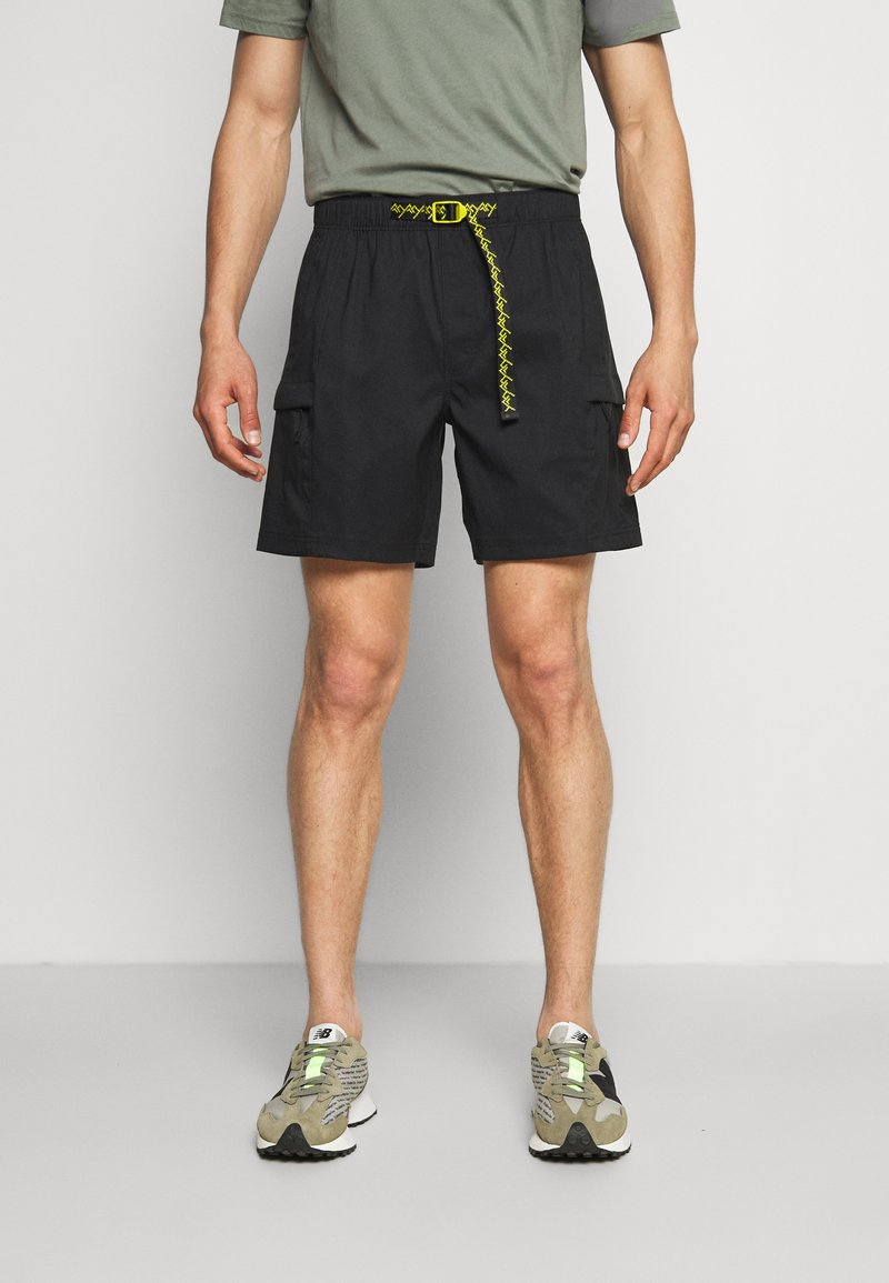 The North Face - CLASS V BELTED - Outdoor shorts - black/mustard yellow