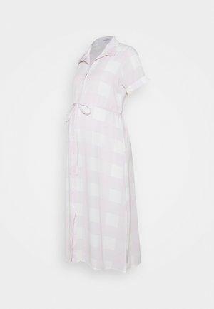 SHIRT DRESS WITH BELT - Shirt dress - lilac
