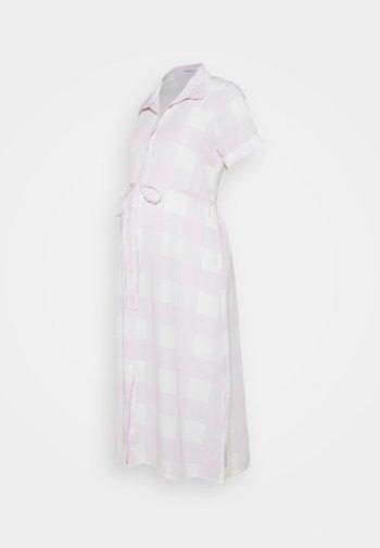 SHIRT DRESS WITH BELT - Sukienka koszulowa - lilac