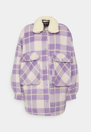 TESS CHECK OVERSIZED JACKET - Classic coat - lilac