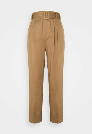 PRUDENCE - Trousers - brown leaf