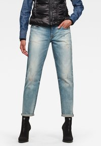 G-Star - KATE BOYFRIEND - Relaxed fit jeans - antic faded lapo blue destroyed - 0