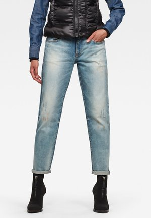 KATE BOYFRIEND - Relaxed fit jeans - antic faded lapo blue destroyed