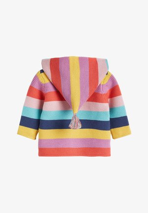 MULTI STRIPE BRIGHT CARDIGAN (0MTHS-3YRS) - Neuletakki - pink