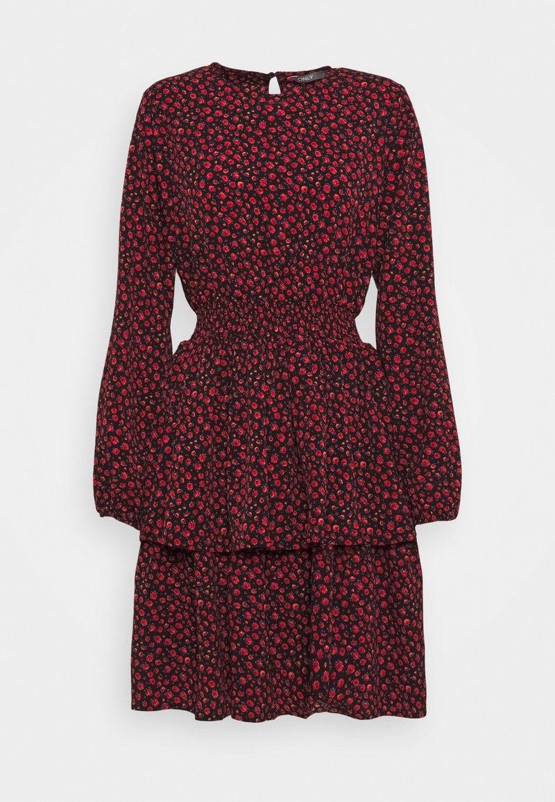 ONLY Tall - ONLTESSA DRESS - Day dress - black/mars red