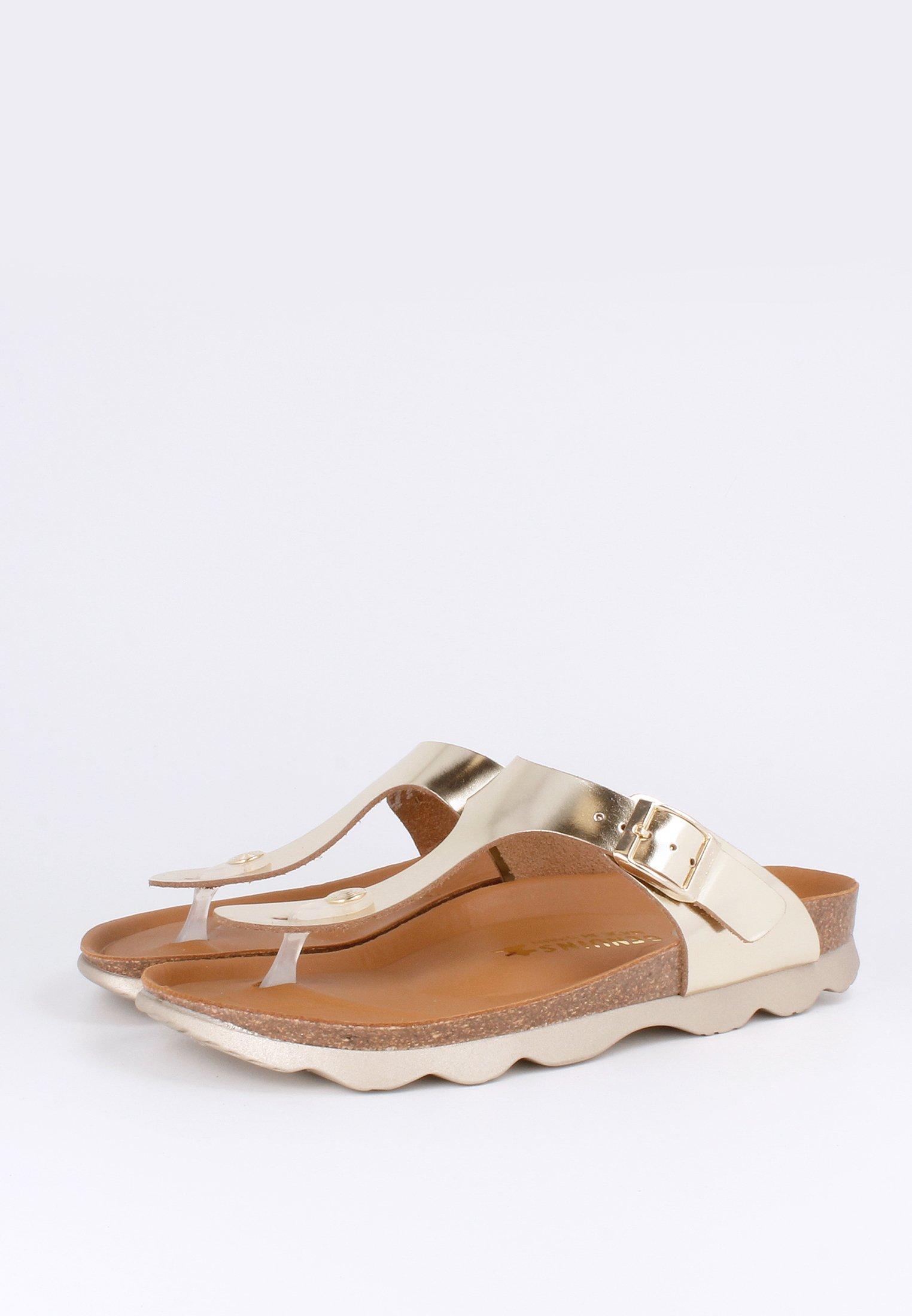 Genuins Sandaler M/ Tåsplit - Gold