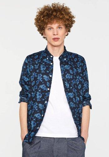 WE FASHION HERREN-SLIM-FIT-HEMD AUS 100% LEINEN - Shirt - blue