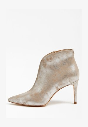 BRISTA METALLIC - High heeled ankle boots - silber