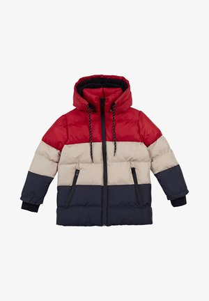 Winterjas - red-stone colored-navy blue