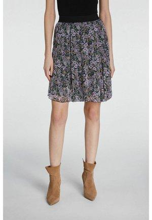 A-line skirt - black violett