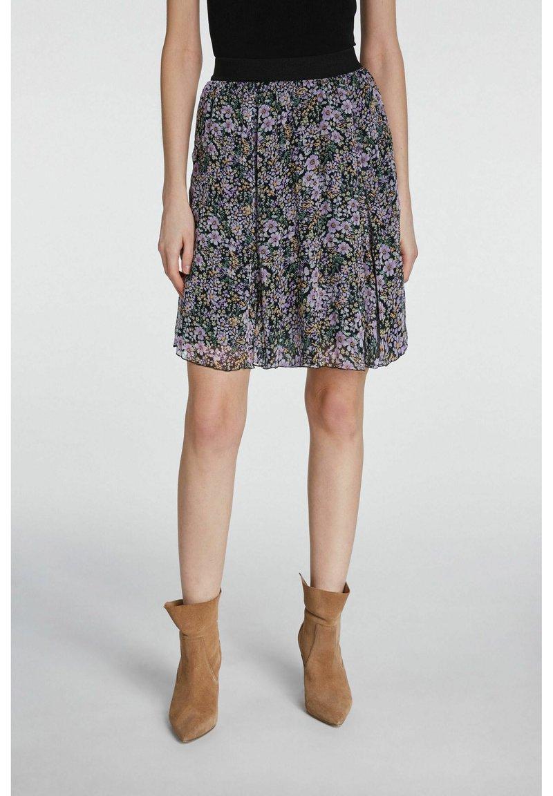 SET - A-line skirt - black violett