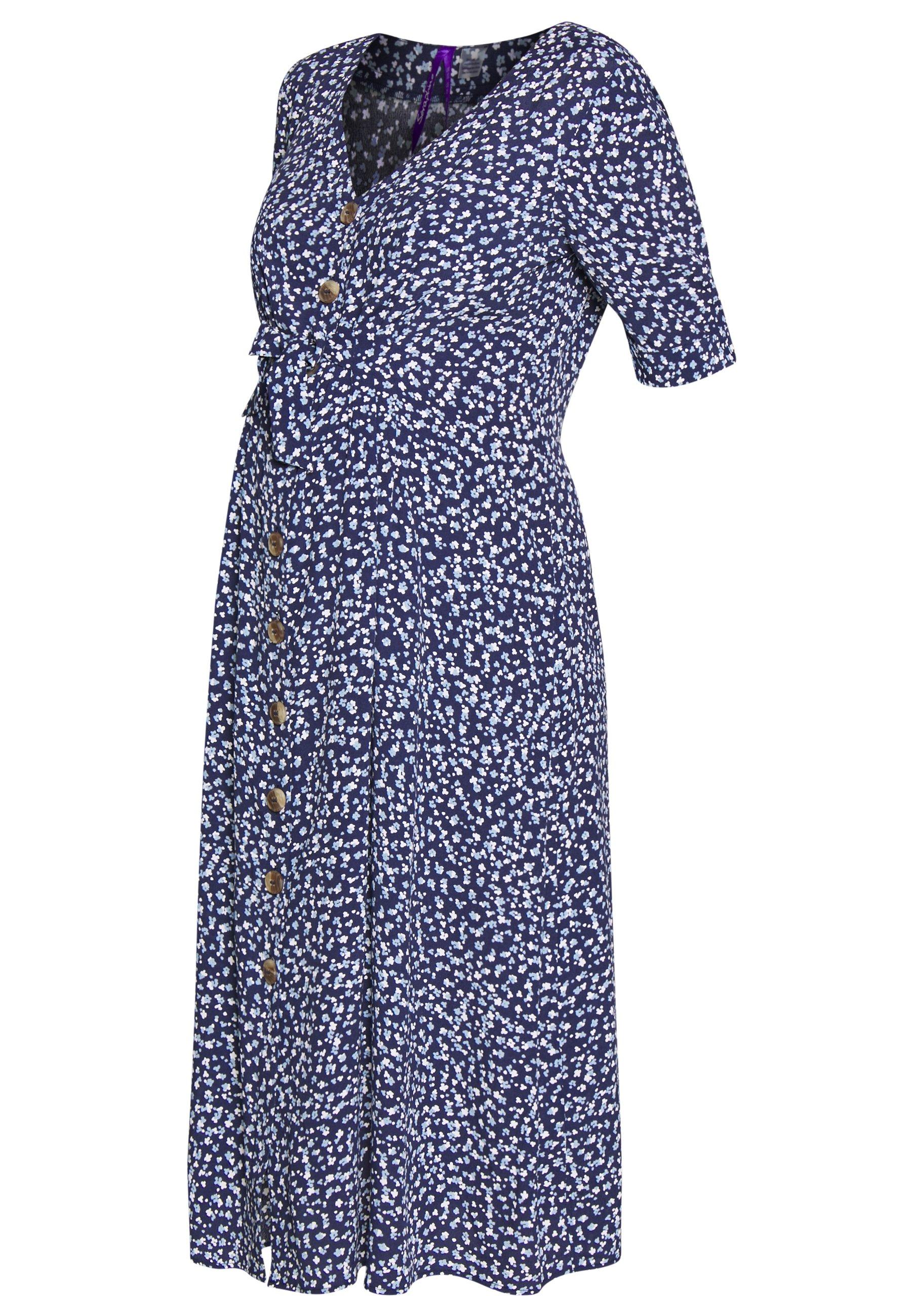 Seraphine BEA MIDI TUCK TIE DRESS - Jerseykjole - navy floral