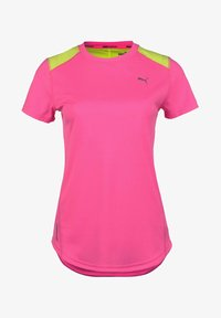 Puma - IGNITE  - Print T-shirt - luminious pink / fizzy yellow - 0