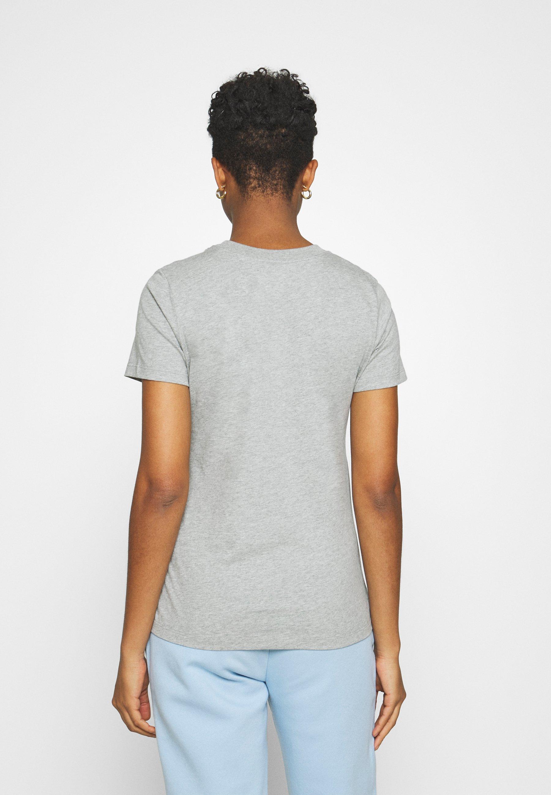 Nike Sportswear Tee Crew - T-shirts Med Print Dark Grey Heather/white/grå